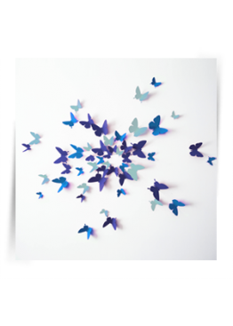 """Декор для стен """"Бабочки HIT Бриз"""" картон 50 шт"""