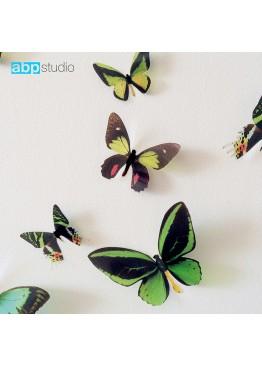 "Декор для стен ""Бабочки Tropic"" зеленый"