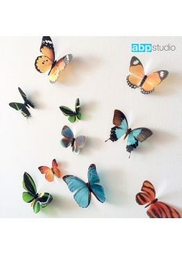 """Декор для стен """"Бабочки Tropic"""" микс"""