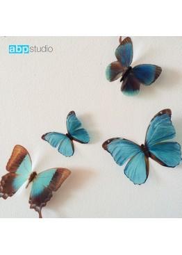 """Декор для стен """"Бабочки Tropic"""" синий"""