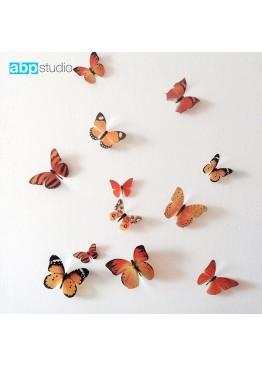"Декор для стен ""Бабочки Tropic"" оранжевый"