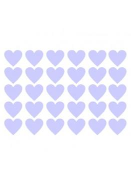 Набор наклеек сердечки (цвет на выбор)