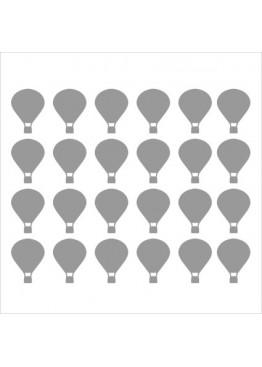 Набор наклеек воздушные шары (цвет на выбор)