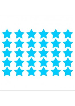Набор наклеек звезды (цвет на выбор)