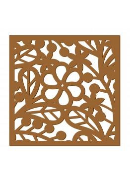 Декоративная панель Цветы и веточки (арт. dp13). Цена за 1м2.
