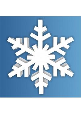 Снежинка пенопласт, толщина 2 см (арт. PEN_SNG1)