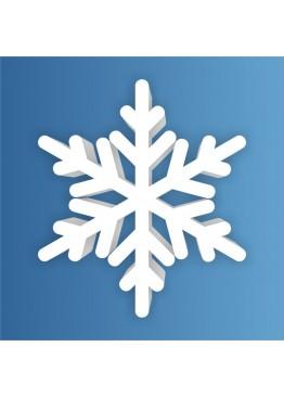 Снежинка пенопласт, толщина 2 см (арт. PEN_SNG2)