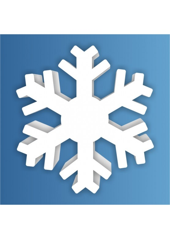 Снежинка пенопласт, толщина 2 см (арт. PEN_SNG4)