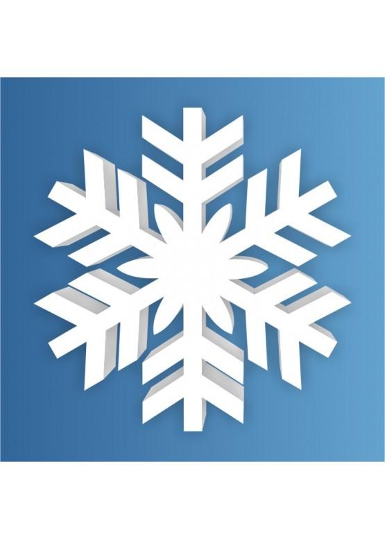 Снежинка пенопласт, толщина 2 см (арт. PEN_SNG5)