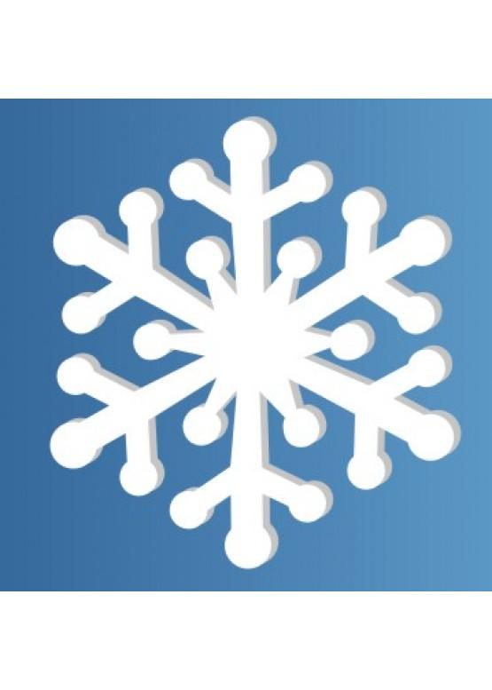 Снежинка пенопласт, толщина 2 см (арт. PEN_SNG6)