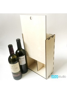 Коробка пенал под 2 бутылки вина