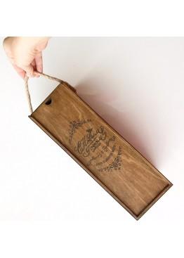 Коробка- пенал под бутылку шампанского с Новым Годом