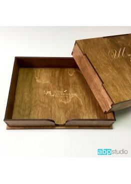 Коробка для фото. Размер 21х15х4см. (арт.KRF1)
