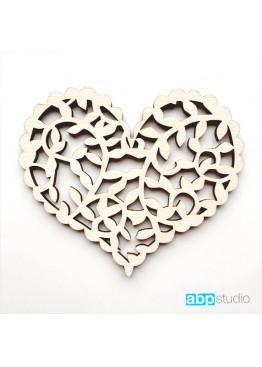 Ажурное сердце с веточками (арт.FL52)