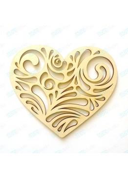Ажурное сердце (арт.FL45)