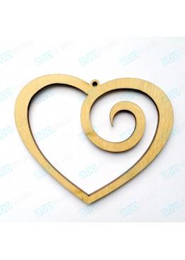 Подвеска сердце завиток (арт.FL4)