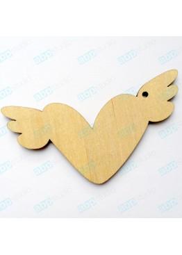 Подвеска сердце с крыльями (арт.FL8)