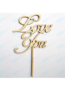 Фраза на палочке Love You (арт.FL11)