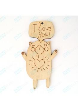 Подвеска Влюбленный кот (арт.FL29)