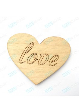 Сердце love (арт.FL31)