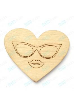 Сердце woman (арт.FL33)