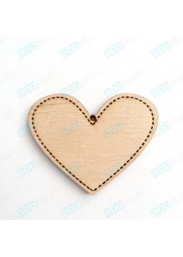 Сердце с пунктиром (арт.FL37)