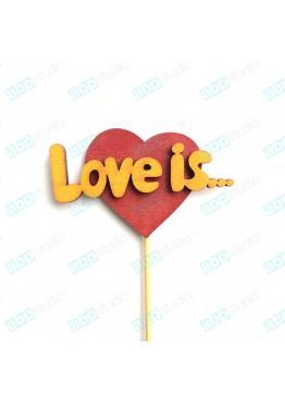 Love is... на палочке (арт.FL39)