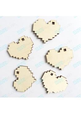 Сердца пиксель набор 5 шт (арт.FL40)