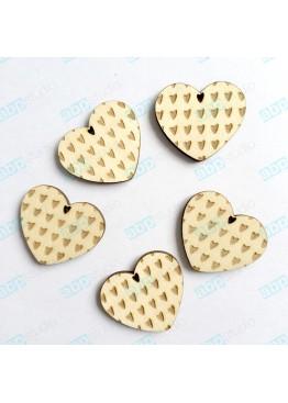 Сердца с гравировкой набор 5 шт (арт.FL42)