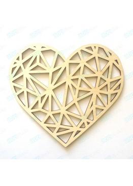 Геометрическое сердце (арт.FL46)