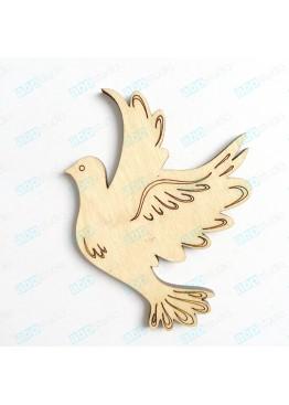 Птичка голубь с гравировкой (арт.FP20)