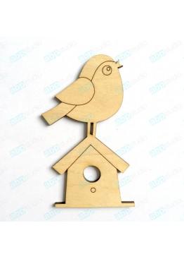Птичка на домике (арт.FP21)