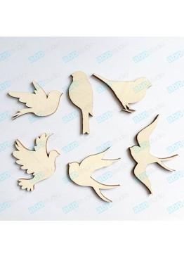 Набор птиц 6 шт (арт.FP23)