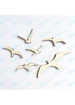 Набор птиц  чайки 6 шт (арт.FP24)