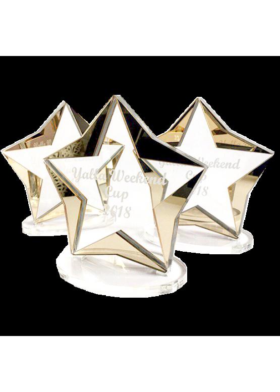 Звезда оргстекло с золотом (арт.Nag2)