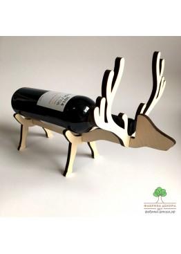 Подставка под бутылку вина / шампанского Олень из дерева (арт. SNGd15)