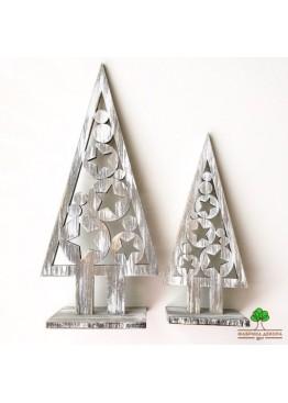 Елка из дерева со звездами. Размер 25см, 30 см  (арт. SNGd10)