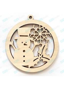 Снеговик в шаре (арт. SNG48)
