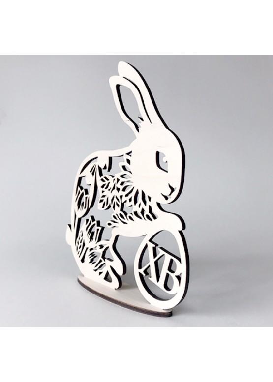 Кролик пасхальный с яичком из дерева (арт.psh_b2)