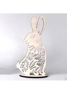Кролик пасхальный  из дерева (арт.psh_b1)