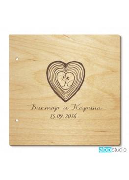 Обложка для книги пожеланий с сердцем (арт.Kp8). Размер на выбор