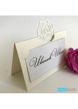 Рассадочные карточки с розой  (арт.rk5)