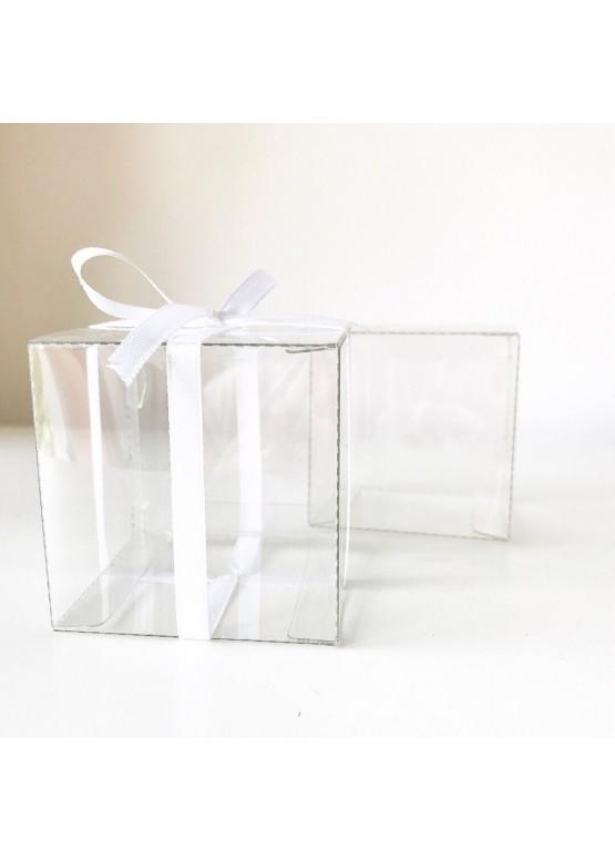 Бонбоньерка прозрачная пластик (арт.bnb6)