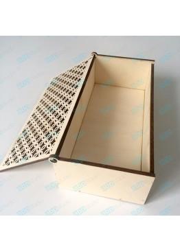 Шкатулка с ажурной крышкой. Размер 19х9х5,5 см.  (АРТ. SHK11)