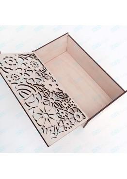 Шкатулка с ажурной крышкой. Размер 25х13х8см (АРТ. SHK13)