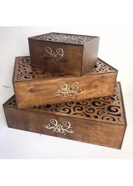 Свадебные коробки для нишана (сватовства) 3шт. Цвет может быть любой.