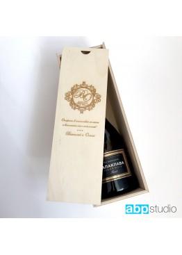 Коробка- пенал свадебная под бутылку шампанского для аукциона