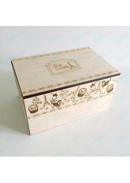 """Коробка для хранения """"Paris"""". Размер 20х15х10см."""