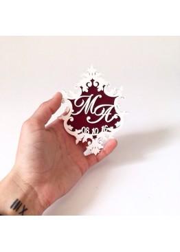 Магнит монограмма (арт.mg6). Минимальный заказ 5 шт.