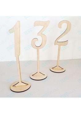 Номера деревянные на ножке (арт.n10)
